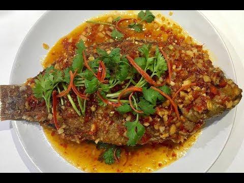 Thai Food /fried Fish With Sweet Chili Sauce (ปลาราดพริก)
