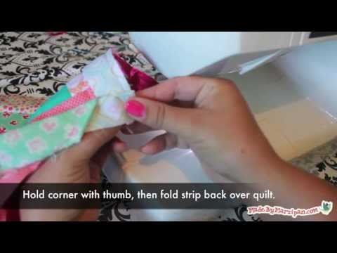 How To Bind A Quilt (with mitered corners and an invisible join ... : binding a quilt with mitered corners - Adamdwight.com