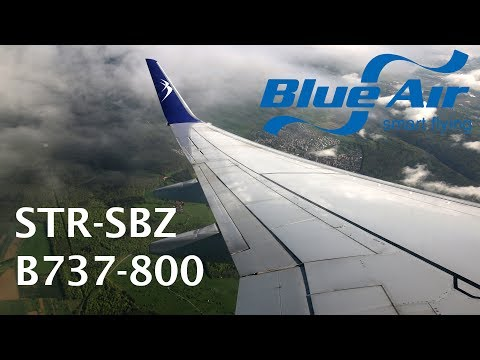 Blue Air B737 flight Stuttgart - Sibiu trip report
