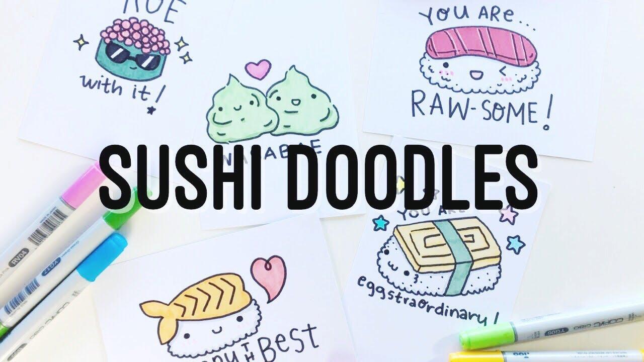 8 Pun-tastic Kawaii Sushi Puns/Doodles | Doodles by Sarah