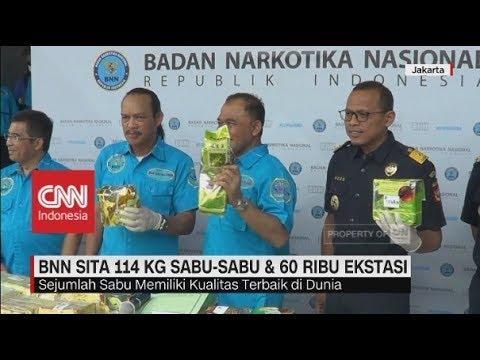 BNN Sita 114 Kg Sabu-sabu & 60 Ribu Butir Ekstasi Mp3