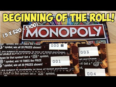 Beginning Of The Pack! 💰Win!💰 5 X $20 $5,000,000 Monopoly Jackpot