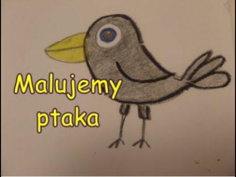 szeroki zasięg różne wzornictwo pierwsza stawka Jak namalować ptaka? - How to draw a bird?