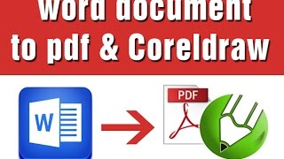 how to convert a word document to pdf coreldraw format in tutorial tamil