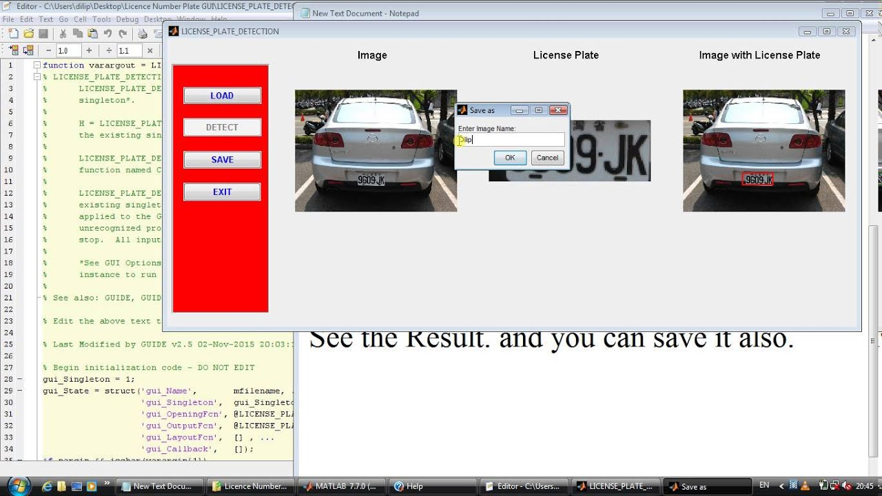 Number Plate Detection Opencv Source Code