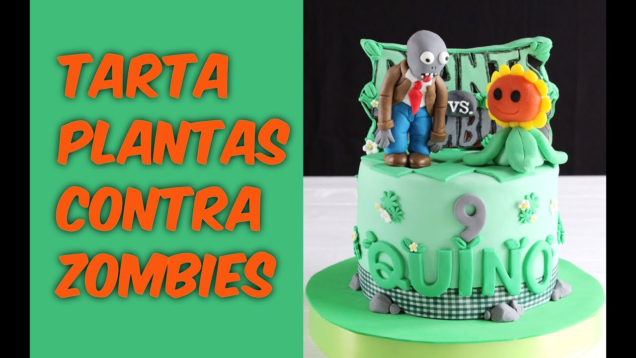 Tarta plantas contra zombies youtube for Decoracion con globos plantas contra zombies