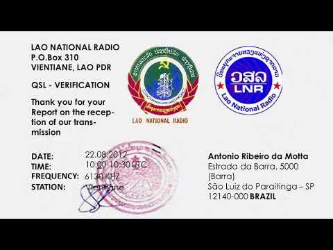 Lao National Radio 6130 Khz (Vientiane) 2012 12 23 - 0930 UTC - Laotian
