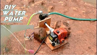 How to Make Powerful Non Electric Water Pump at Home - With Grass Cutter Engine