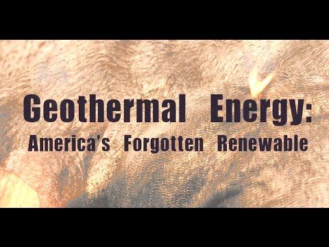 Geothermal Energy: America's Forgotten Renewable