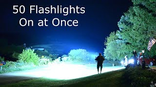 50  Flashlights on At Once 110,000 lumens