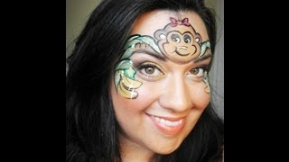 Monkey Face Painting Tutorial Thumbnail