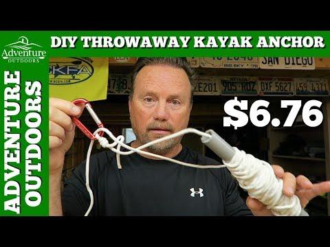 DIY Throwaway Kayak Fishing Anchor Kit For $6.76 ~ Works Awesome