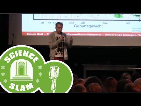 Science-Slam-Finale 2014: Warum sind Neugeborene so leicht (Simon Reif)