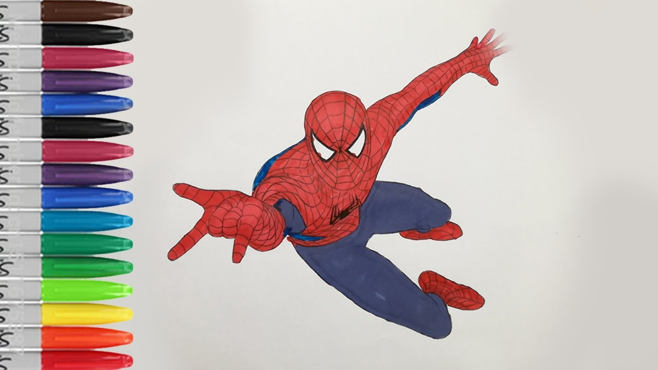 Spiderman 2 Coloring Pages The Amazing SPIDERMAN 2 SAILANY Coloring ...