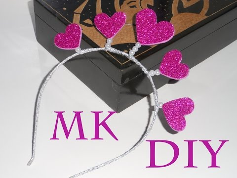 МК Ободок для фотосессии ко дню влюбленных\DIY The rim for Valentines day