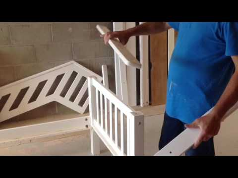 Staircase Bunk Bed Assembly Instructions Youtube