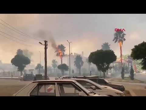 Manavgat yanıyor, antalya yangını
