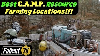 Fallout 76: Best C.A.M.P. Resource Farming Locations!