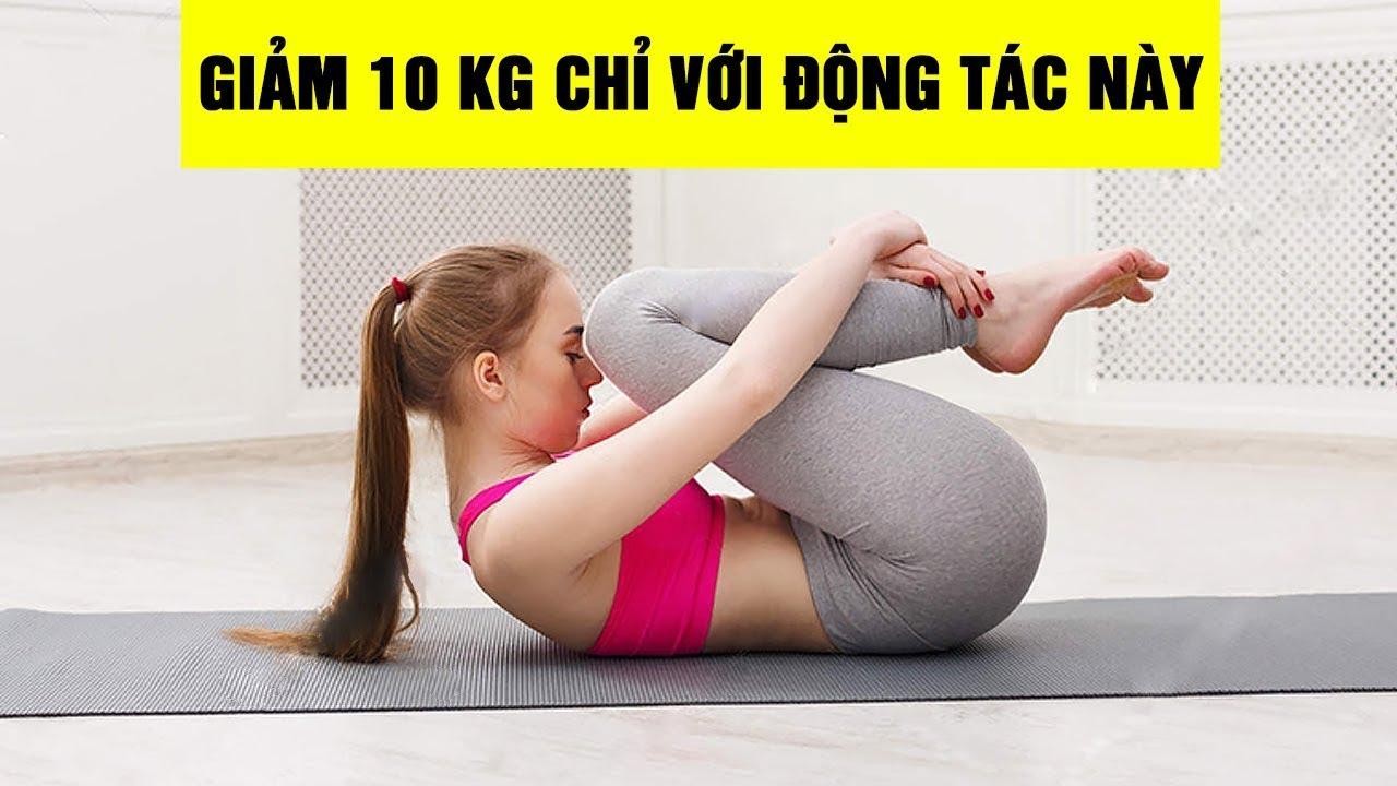 10 PHÚT tập yoga giảm mỡ bụng mỗi ngày, giảm mỡ bụng tức thì ..