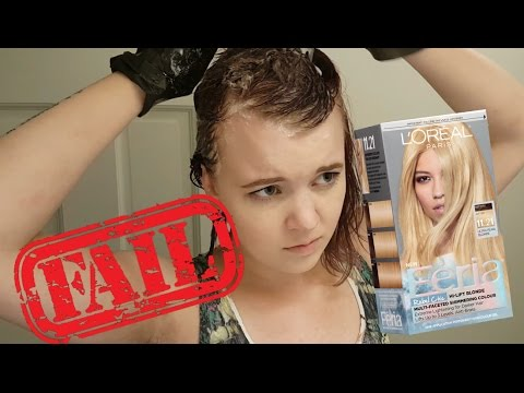 L'Oreal Feria Rebel Chic Ultra Pearl Blonde Hair Dye Review + Demo ...