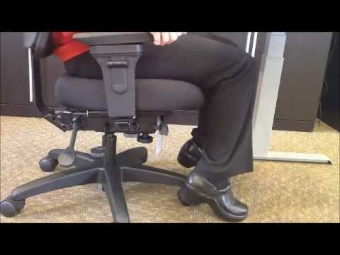 ergonomic chair settings leather executive adjustment office master youtube