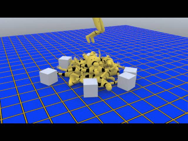 Lightwave 2015 Bullet Dynamic Falling 32 RagDolls  Test By Guihim