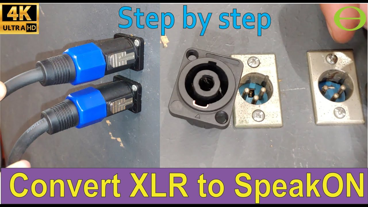How to convert an XLR to SpeakON panel mount connector - YouTubeYouTube