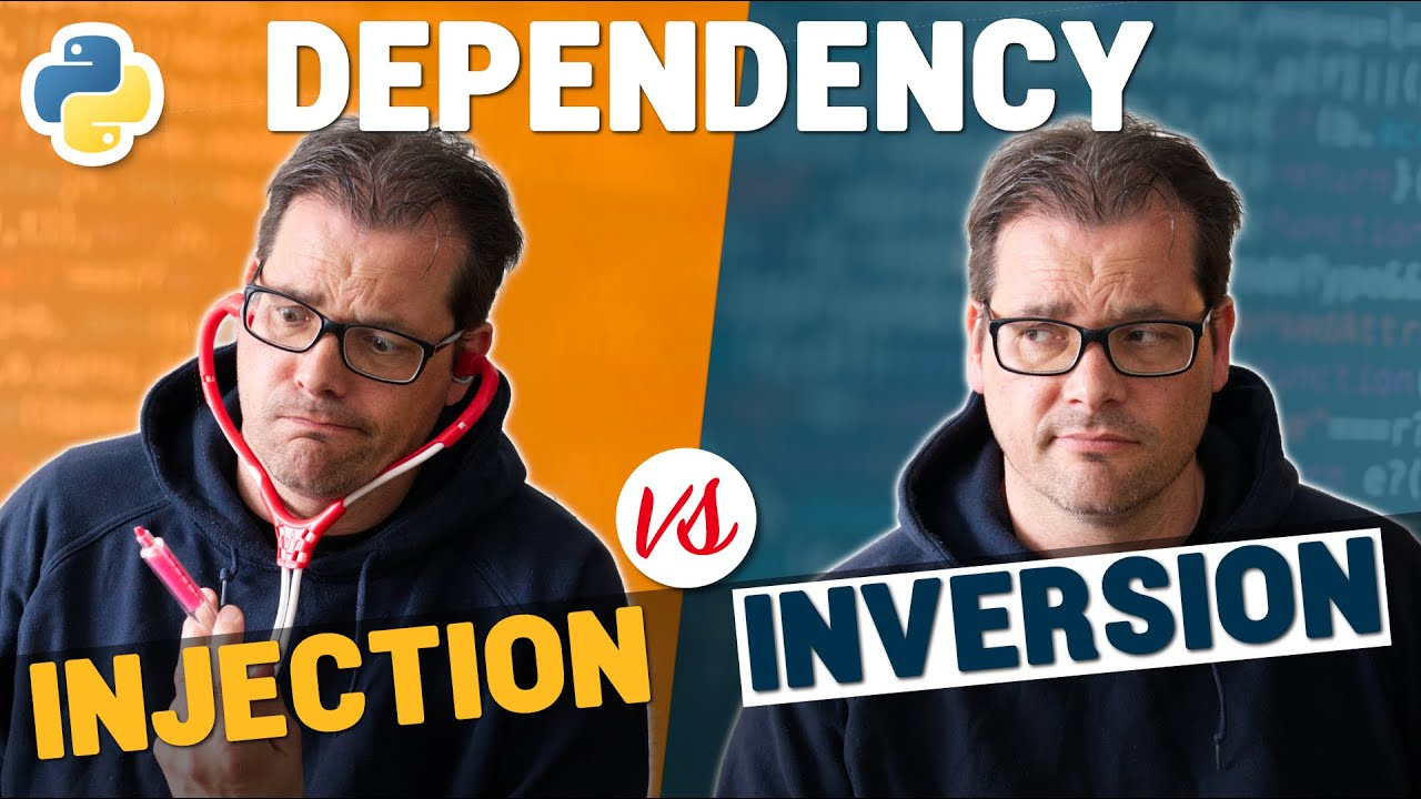 Dependency INVERSION VS Dependency INJECTION in Python