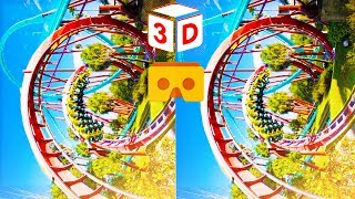 3D Roller Coaster X VR Videos 3D SBS [Google Cardboard VR Experience] VR Box Virtual Reality Video