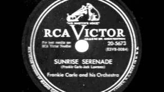 Sunrise Serenade by Frankie Carle on 1953 RCA Victor 78.