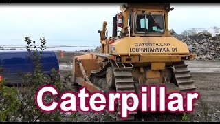 Big Machines! Caterpillar bulldozer D8L Excavator CAT 330C Volvo Dumbber A30D
