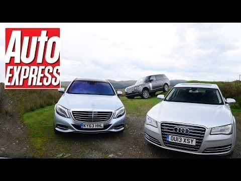 New Mercedes S-Class vs Audi A8 vs Range Rover - Auto Express