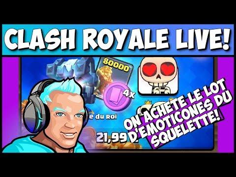 Clash Royale - EMOTICONES SQUELETTE, ON ACHETE L'OFFRE!