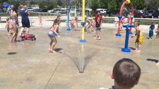 Splash Pad at Creekside Park in Alpine Utah