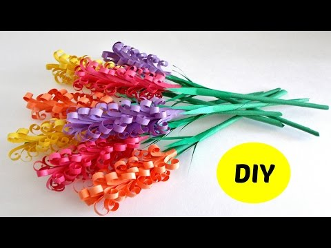 how to make paper hyacinths