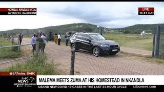 Malema leaves the Zuma homestead in Nkandla