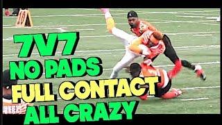FULL CONTACT 7v7 🔥🔥 No Pads All Crazy A7FL Highlight Mix