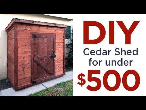 DIY 3' x 6' Cedar Shed for under $500  | 43