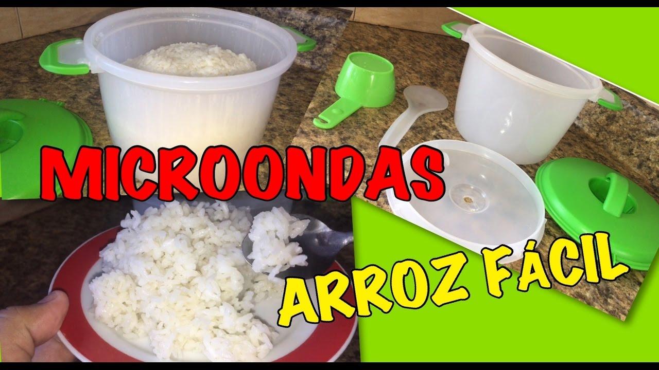 como cocinar arroz blanco en microondas