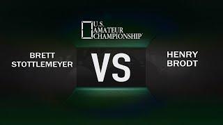 2017 US Amateur Championship Brett Stottlemeyer VS Henry Brodt Day 3