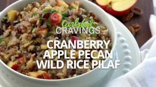 Cranberry Apple Pecan Wild Rice Pilaf