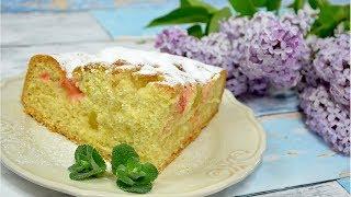 Łatwe ciasto z rabarbarem - Jak zrobić - Smakowite Dania