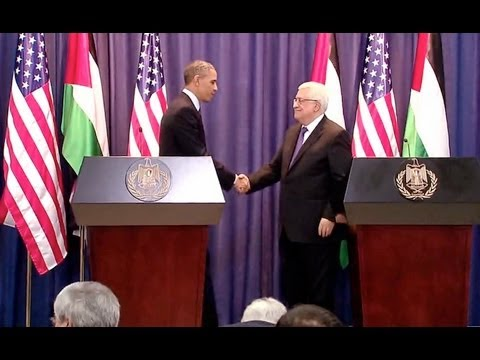 President Obama Holds a Press Conference with President Abbas of the Palestinian Authority