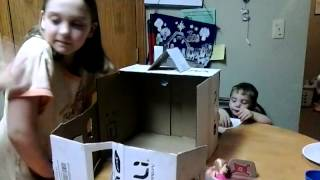 Homemade Cardboard Doll House By Briana