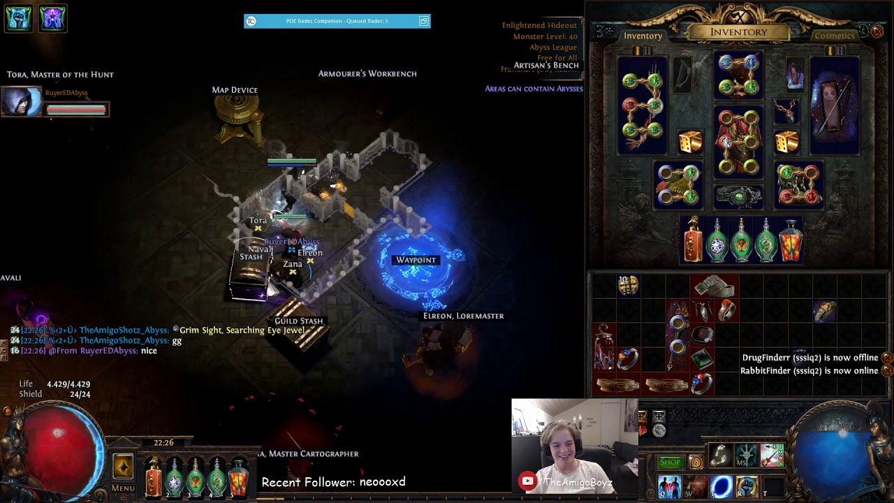 poe how to get abyss jewels in standard