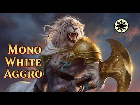 Repeat Mono White Aggro |Bo1| Mazo Aggro |M20| MTG Arena Standard by