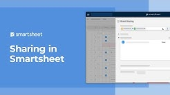 Sharing in Smartsheet