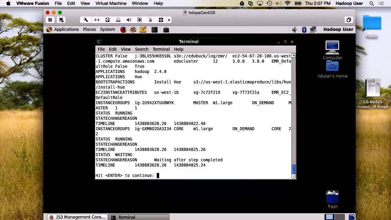Hadoop Operations: Running EMR Jobs with the Command Line Interface