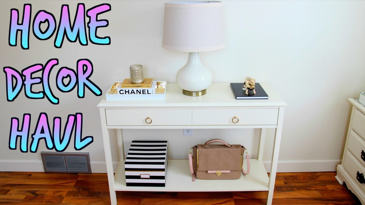 Home decor haul target tj maxx more youtube Target blue home decor