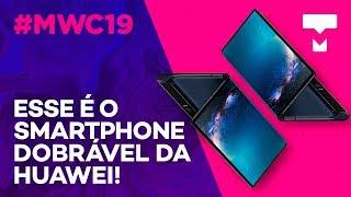 Mate X, o celular dobrável da Huawei - MWC 2019 - TecMundo thumbnail
